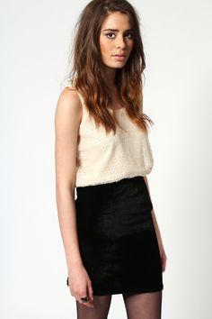 Nikki Velvet Bodycon Skirt