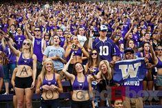 University of Washington (UW) vs. University of California-Berkeley (Cal) at Husky Stadium on Saturday, eSeptember (Photo by Dan DeLong/Red Box Pictures) College Sorority, Sorority Life, Washington Huskies Football, Uw Huskies, Husky Photos, Husky Husky, Photo Store, University Of Washington, Purple Reign