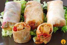 Rollitos vietnamitas El plato de hoy es uno de los más conocidos de la cocina de Vietnam. Se trata de unos ricos rollitos, rellenos de verduras y carne, qu