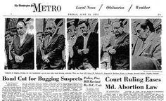 1972 Watergate Newpaper Articles