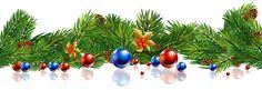 Transparent Christmas Pine Decor Balls PNG Clipart Image