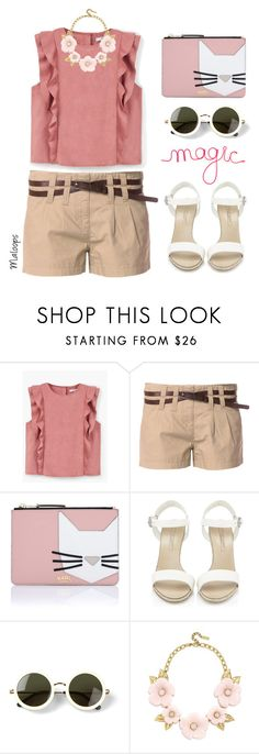 """""""~This mirror holds my eyes too bright I can't see the others in my life~"""" by maloops ❤ liked on Polyvore featuring MANGO, Vero Moda, Karl Lagerfeld, Ralph Lauren, The Row, BaubleBar, WALL, chic, romantic and ruffles"""