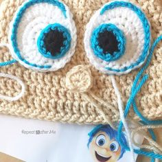 CROCHET - EYE / OEIL, YEUX / OOG FOR DOLL or AMIGURUMI - Joy Inspired Crochet Hat - Repeat Crafter Me