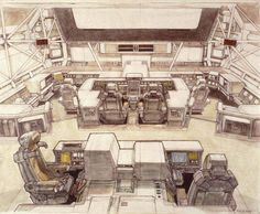 Ron Cobb design for Alien