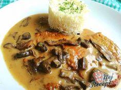 Vepřové plátky na houbách Austrian Cuisine, Izu, Cheeseburger Chowder, French Toast, Pork, Breakfast, German, Diet, Blue Prints