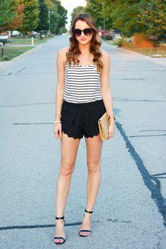 Stripes + Lace Scallops