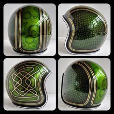 bobber   Tumblr. Green biker helmets