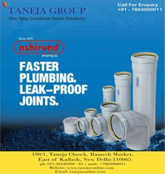Shop quality pipes and fittings from #TanejaGroup. For more info. visit www.tanejasonline.com