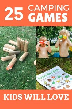These are the best camping games for kids! Fun outdoor games kids love for your next family camping trip! Includes nature activities, night camping games, and family games that are fun for kids and adults. Plus camping games for tweens and teens. Choose your favorite kids' camping games before your next family campout! #campinggames #outdoorgames #kidsgames #familygames Camping Games Kids, Summer Activities For Kids, Camping With Kids, Family Camping, Kids Fun, Family Travel, Nature Activities, Infant Activities, Family Activities