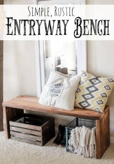 This amazingly simple diy bench can be made in under an hour and for very little money! (Diy Bench Dining)