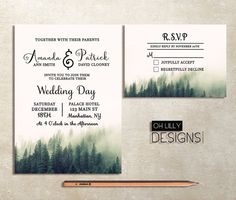 Winter Wedding Invitation #winterwedding #winterweddinginvitation