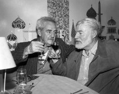Ernest Hemingway and Waldo Peirce.  I had never seen this picture of the two before.  Peirce's portrait of a young Hemingway is the classic painting of Papa. See painting here:  https://www.pinterest.com/pin/108367934759874000/   And see another related pin here:  https://www.pinterest.com/pin/108367934753486900/