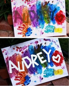 Name painting for kids (autumn activities for kids crafts) Easy Crafts For Kids, Craft Activities For Kids, Diy For Kids, Crafts To Do, Kids Fun, Painting Crafts For Kids, Babysitting Activities, Craft Ideas For Girls, Infant Art Projects
