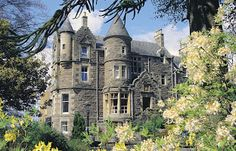 Knock Castle is located in the town of Crieff in Perthshire, Scotland