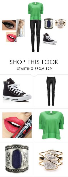 """""""Untitled #82"""" by wndt on Polyvore featuring Converse, Balmain, Fiebiger, Vero Moda and Alexis Bittar"""