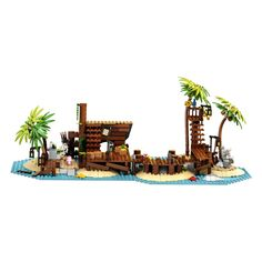 Captain Redbeard, Office Desk Toys, Shipwreck Island, Skeleton Figure, Building Sets For Kids, Pirate Island, Jail Cell, Lego Construction, Popular Tv Series
