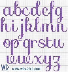 Resultado de imagen de abecedario bordado en punto de cruz