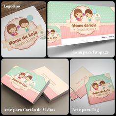 Criação de Logotipo  Infantil / Capa Facebook Infantil  / Arte Cartão de Visitas Infantil / Arte Tag para Infantil / Panfleto para Infantil