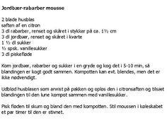 Kagekonen.com: jordbær-rabarber mousse