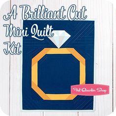 A Brilliant Cut Mini Quilt Kit Featuring Bella Solids by Moda Fabrics