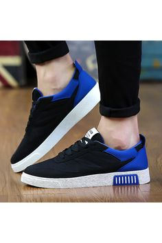 WithMe Men's Breathable Fashion Casual Shoes Low Cut Shoes Sneaker (Black/Blue) - Intl | Price: ฿922.00 | Brand: Unbranded/Generic | From: Top Seller Shoes - รวมรองเท้าแฟชั่น รองเท้าผู้ชาย รองเท้าผู้หญิง ราคาพิเศษ | See info: http://www.topsellershoes.com/product/52048/withme-mens-breathable-fashion-casual-shoes-low-cut-shoes-sneaker-blackblue-intl