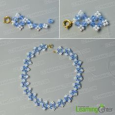 make the second part of this flower glass beads necklace