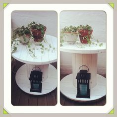 Cable spool table, kabelrulle som bord till utemöblerna?