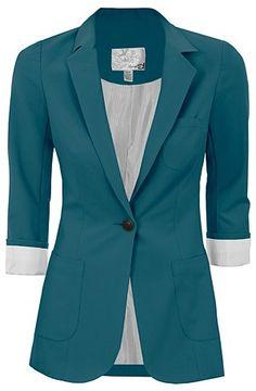 Dynamite turquoise blazer!