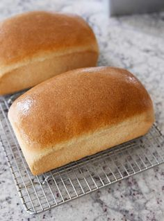 This small batch whole wheat bread recipe is the ticket to making perfect bread at home. It can be made in a KitchenAid or Bosch mixer or by hand! Sandwich Bread Recipes, Yeast Bread Recipes, Bread Machine Recipes, Banana Bread Recipes, Bread Machine Garlic Bread Recipe, Whole Wheat Sandwich Bread Recipe, Fluffy Bread Recipe, Sourdough Recipes, Mélangeur Kitchenaid