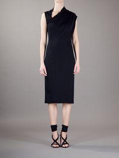 Donna Karan Asymmetric Neck Dress - Biffi - farfetch.com