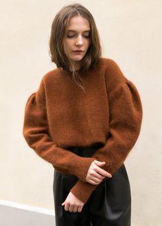 Brick Puff Sleeve Statement Sweater – The Frankie Shop