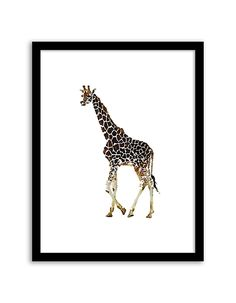 Download and print this free printable Giraffe Watercolor wall art for your home or office! Download by following the directions below.