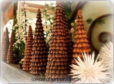 Pine Cone Christmas Trees... Cute!