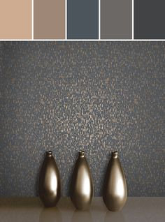 SPENCER CHARCOAL MOSAIC Designed By Brewster Home Fashions via Stylyze