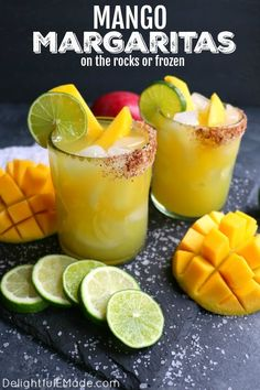 If you love a great margarita then my mango margarita recipe is a must! made with fresh mangoes lime juice tequila and cointreau this skinny margarita recipe is simple to make and completely delicious! how to make cannabis mango juice Mango Cocktail, Mango Drinks, Yummy Drinks, Bar Drinks, Beverages, Fresh Margarita Recipe, Pineapple Margarita, Mango Margarita Recipes, Frozen Mango Margarita