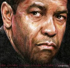 Wish I was a Celeb so they could draw me! Denzel Washington by vividec {from Italy} ~ colored pencils Denzel Washington, Celebrity Drawings, Celebrity Portraits, Caricatures, Pencil Drawings, Art Drawings, Great Works Of Art, African American Artist, Face Sketch