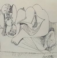 Pablo Picasso. Reclining Nude, 1972