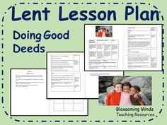 Lent Lesson Plan - Doing Good Deeds