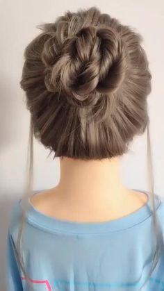 Easy Hairstyles For Long Hair, Elegant Hairstyles, Diy Hairstyles, Amazing Hairstyles, Simple Hair Updos, Casual Updos For Medium Hair, Updos For Medium Length Hair Tutorial, Different Hairstyles, Wedding Hairstyles