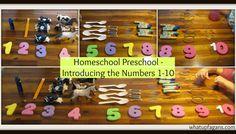 Homeschool Preschool: Introducing numbers 1-10