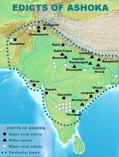 Ashoka is the greatest king of the Mauryan Empire. Impact of the Kalinga War, Ashoka Policy and Buddhism. Rule of Ashoka the Great. Ancient Indian History, History Of India, Asian History, World History, British History, India World Map, India Map, India Travel, History Timeline