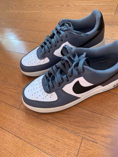 4f69fb2d64d No Reserve - Nike Air Force 1 (Used) - Grey and Blue Size 9 #fashion  #clothing #shoes #accessories #mensshoes #athleticshoes (ebay link)