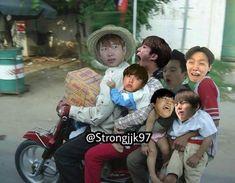 Bts Funny Videos, Bts Memes Hilarious, Cute Memes, Jungkook Abs, Jeon Jungkook Photoshoot, Bts Taehyung, Foto Bts, Bts Photo, Bts Meme Faces