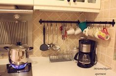 Good way to organize spoons and other misc items in the kitchen.