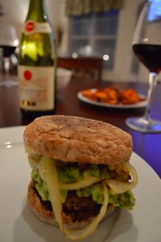 Kobe Beef Burger with Caramelized Onions & Guac Recipe