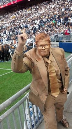 PENN STATE – FANS AND ALUMNI – The Joe Paterno statue is always a great choice for Halloween.