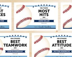 End of season baseball award categories kids baseball party editable baseball award certificates instant download printable light sky carolina blue and navy toneelgroepblik Image collections