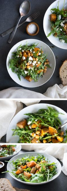 A warming and filling salad to die for! This colourful and delicious warm roasted butternut squash salad makes you feel fantastic, but tastes amazing!