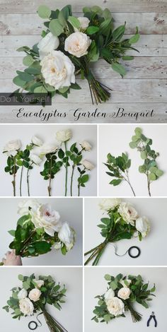 Get ready to make a bridal bouquet for your wedding. Follow this bouquet DIY from silk flower designer Blue Orchid Creations and walk down the aisle with a handmade Afloral.com Eucalyptus Garden Bouquet.
