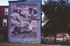 Philadelphia murals Jackie Robinson' Artist: David McShane Although the black and white tones of the work seem to evoke a newspaper photograph, the artist says he chose them to remind people of the racial divisions that Robinson helped overcome.